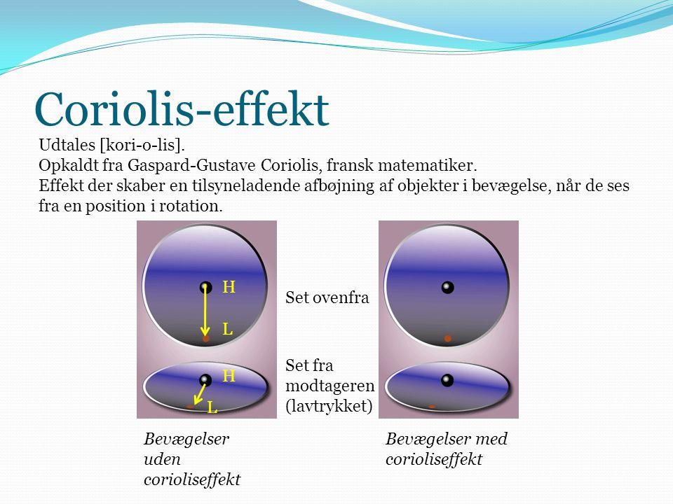 Coriolis-effekt Udtales [kori-o-lis].